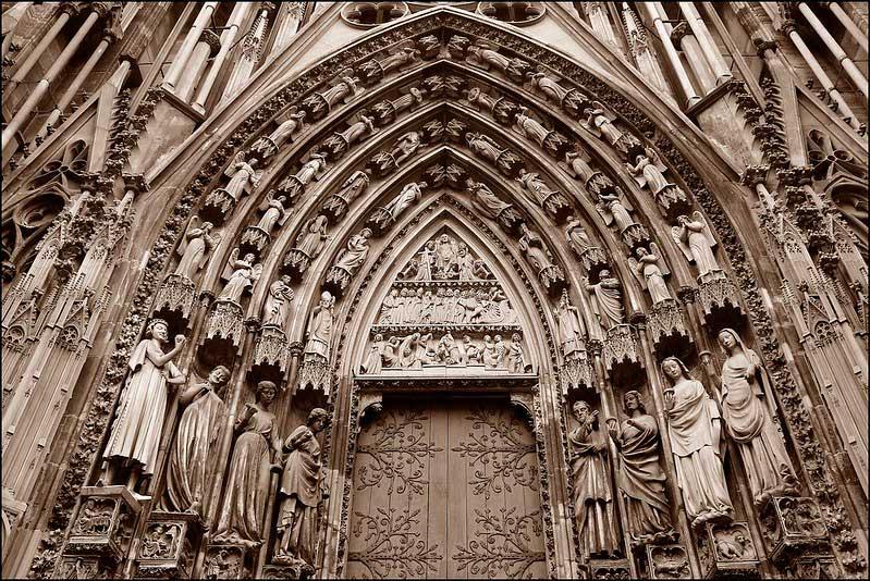 Gotik mimari örneği.